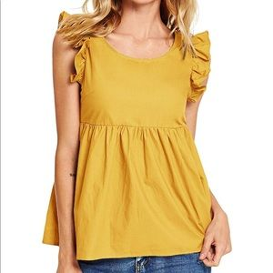 Backless Peplum Baby Doll Top